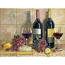 Bread and Wine by Theresa Kasun - Kitchen Backsplash / Bathroom wall Tile Mural