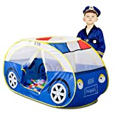 Artiron Police Car Play Tent, Indoor and Outdoor Kids Vehicle Castle Pop Up Tent Playhouse as Great Birthday Gift Toys for 1-8 Years Old Toddlers Baby Boys Girls (Police Car) (Color: Police Car)