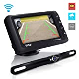 Wireless Rear View Backup Camera - Upgraded Vehicle Parking Reverse System w/Monitor Kit, IP67 Waterproof and Fog Resistant, 4.3'' LCD Screen, Tilt-Adjustable Dash Cam, Night Vision - Pyle (Tamaño: 4.3 inches)