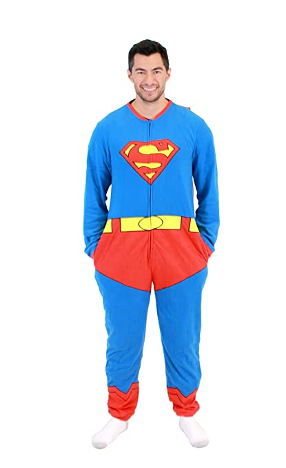 ADULT Superman Full Body Union Suit Caped Pajama at Sears.com