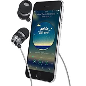Betron B25 Noise Isolating in Ear Canal Headphones Earphones with Pure Sound and Powerful Bass for iPhone, iPad, iPod, Samsung Smartphones and Tablets (Black with Remote) (Color: Black With Remote, Tamaño: SML)