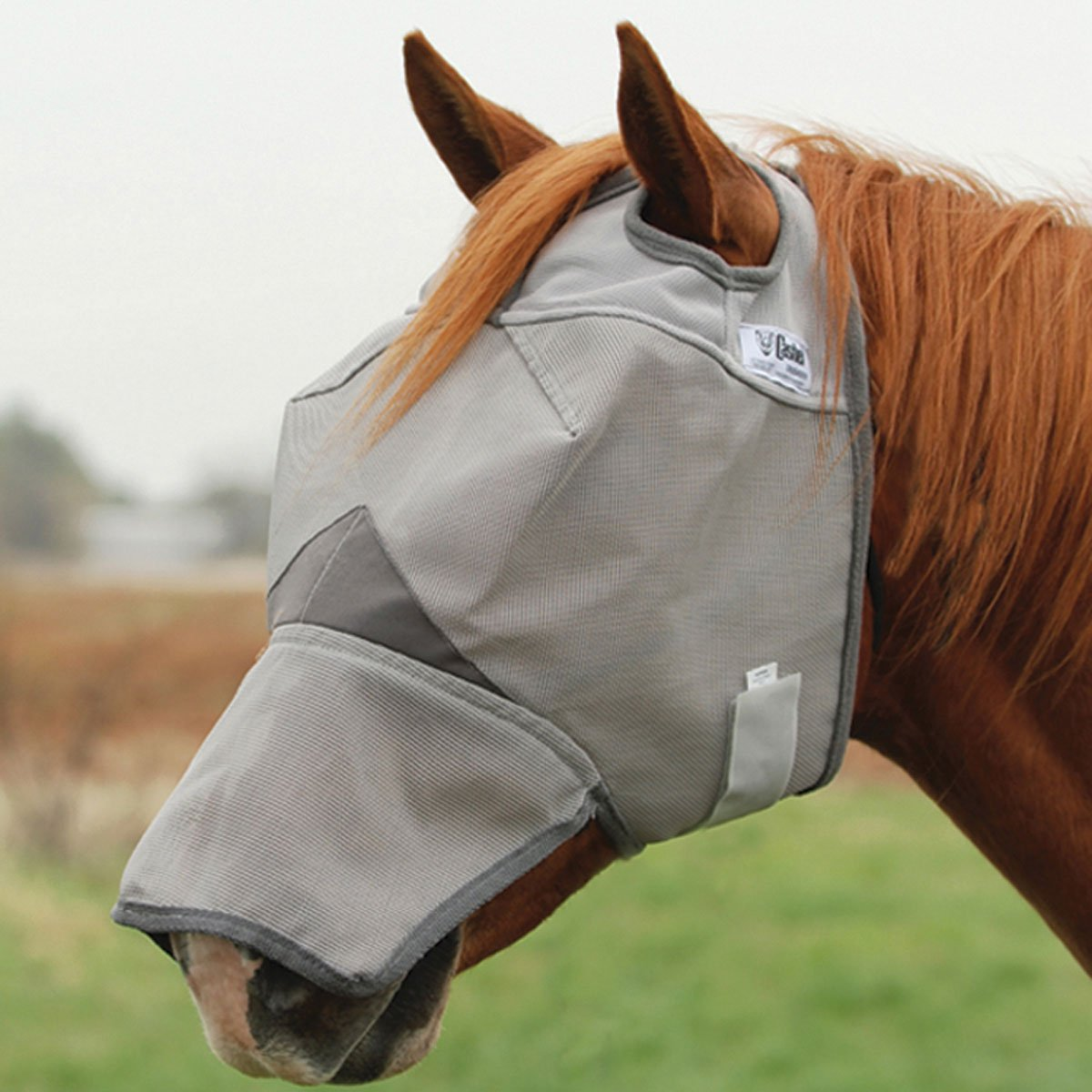 Cashel Crusader Fly Mask with Long Nose - All Sizes canoe шарф серый cashel