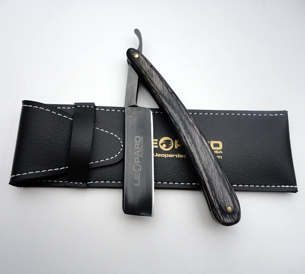 Shave Ready Vintage Straight Cut Throat Shaving Razor Carbon Steel Open Razor New Handmade Black Wood Handle Black Blade R-606 4