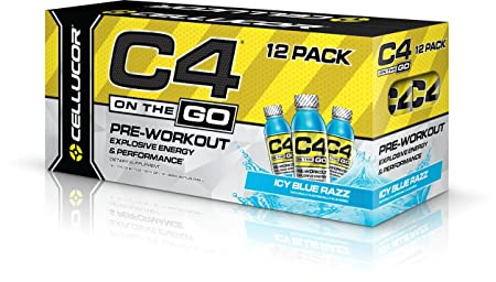 Cellucor C4 On the Go Box of 12-Icy Blue Razz