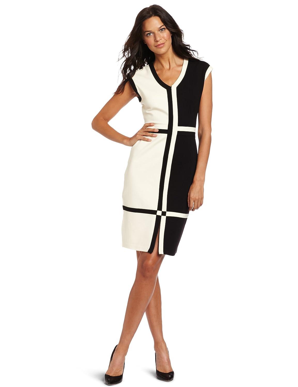 Evolution by Cyrus Women's Short Sleeve V-Neck Knee Long Dress: