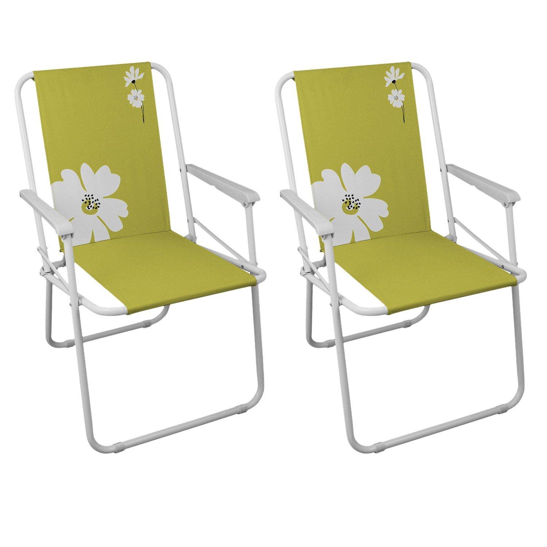 2 Stück Campingstühle Gartenstuhl Klappstuhl – Grün Campingmöbel Gartenmöbel Strandstuhl günstig
