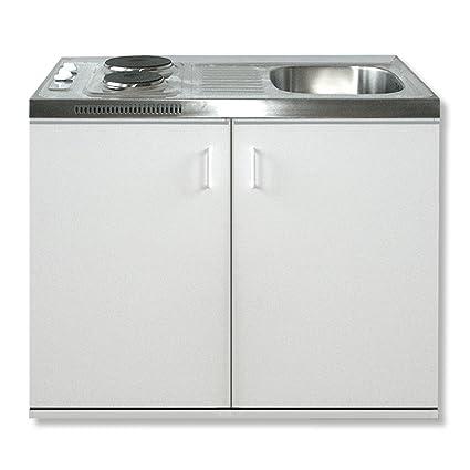 ROLLER Singlekuche - weiß - 100 cm Breite