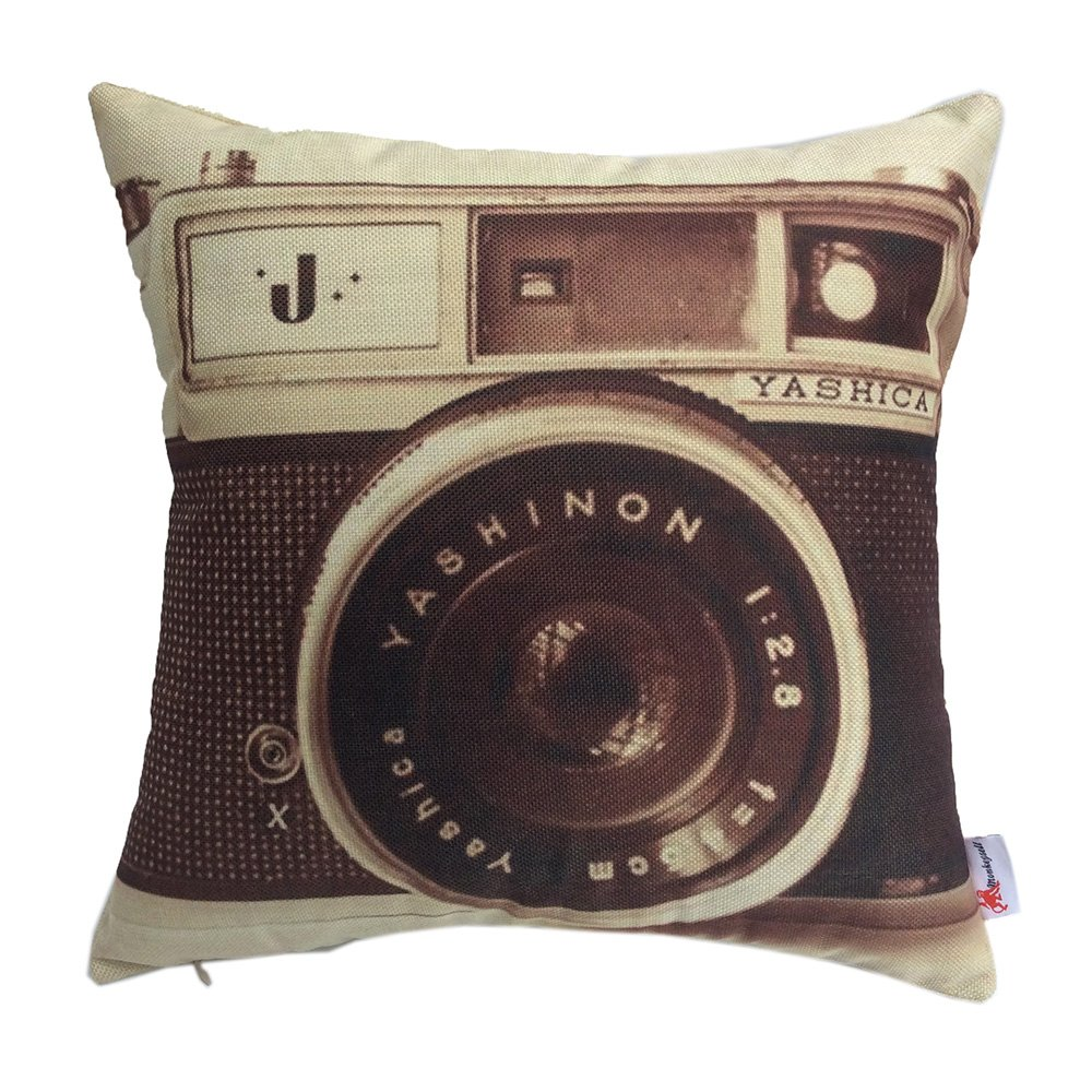 Monkeysell 3D printing various types of Vintage Camera Home Throw Pillow Case Personalized Cushion Sofa Home Decor Design Throw Pillow Case Cushion Covers Square 18 Inch (1) 0