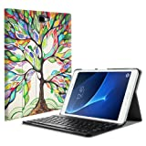 Fintie Keyboard Case for Samsung Galaxy Tab A 10.1(2016 NO S Pen Version), Slim Lightweight Stand Cover w/Magnetically Detachable Wireless Bluetooth Keyboard Compatible with Tab A 10.1 Inch, Love Tree (Color: ZA-Love Tree)