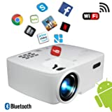 BeVision Projector, Smart Android WiFi Bluetooth Video Beam, by, 220 ANSI Lumen 180
