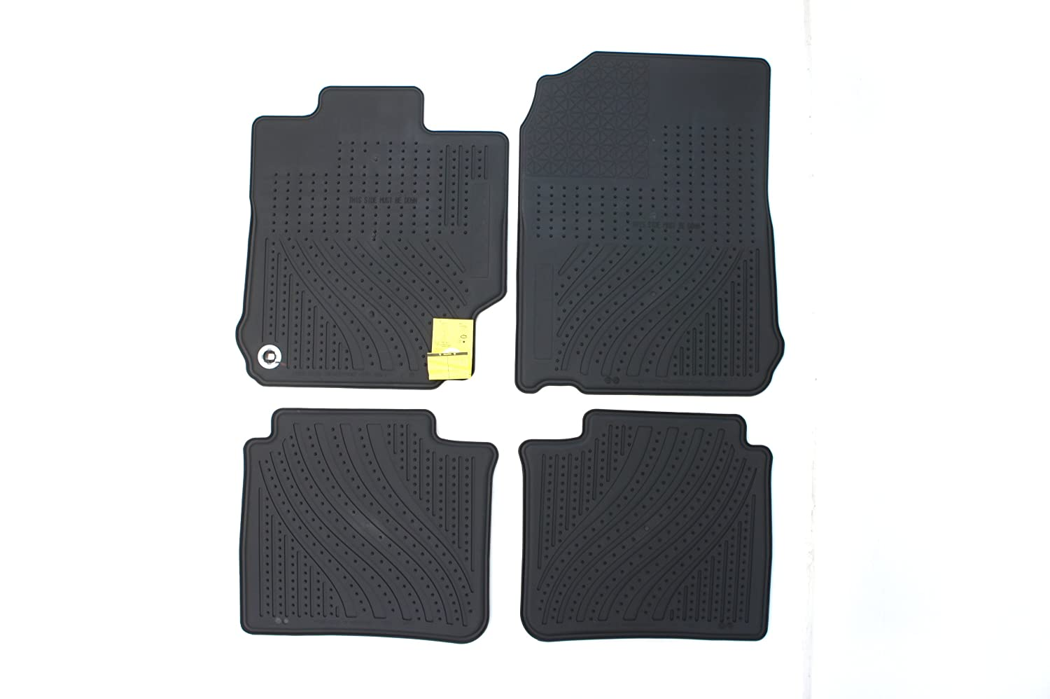 Genuine Toyota Accessories Front and Rear All-Weather Floor Mat - (Black), Set of 4
