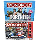 Monopoly Fortnite Edition Board Game Inspired by Fortnite Video Game for Ages 13 + and Monopoly Gamer Mario Kart for Ages 8 + | Gaming Monopoly Bundle