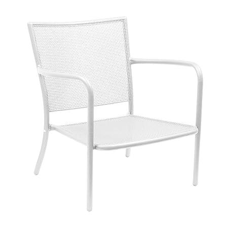 emu Athena Garten-Loungesessel, weiß Stahl matt LxBxH 78x74x78cm