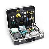 KomShine FTTH Fiber Optical Splicing Tool Kits Used with Fusion Splicer Inc OEM FC-6S Cleaver Stripper(KFS-35D)