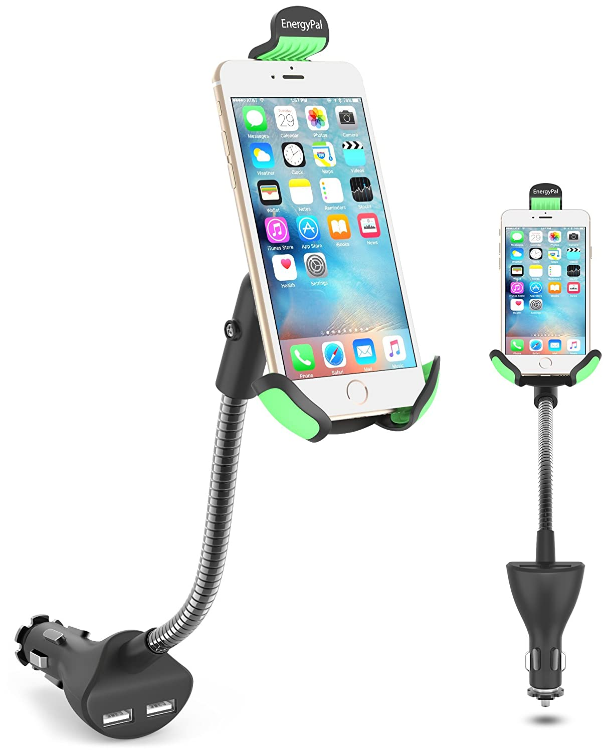 in car phone holder and charger