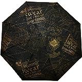 Harry Potter - Marauder's Map Umbrella 2 x 10in (Color: Black, Tamaño: Standard)