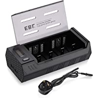 EBL Upgraded LCD Display Universal Battery Charger with Dual USB Outputs