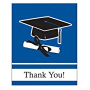 Creative Converting 25 Count School Color Thank You Cards Blue