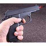 FengFang Windproof Lighter CZ83 Pistol Metal Model Reusable Inflatable Butane Cigar Lighter (Black) (Color: black)