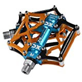 RockBros Mountain Bike Pedals Platform Cycling Sealed Bearing Alloy Flat Pedals 9/16