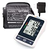 "LotFancy Blood Pressure Monitor, Upper Arm Cuff (8.6-14.2""), Digital Sphygmomanometer, 2 User Mode, FDA Approved (Tamaño: Adapter+M Cuff 8.6-14.2 inch)"