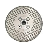 SHDIATOOL 4.5 Inch Electroplated Diamond Cutting Grinding Disc Fits 5/8-11 Arbor Single Coated Diamond Blade for Granite Marble Diamond Disk Diamond Wheel (Color: Silver, Tamaño: 4.5