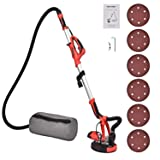 FULLWATT Electric Drywall Sander 800W Adjustable Variable Speed with Automatic Vacuum System and LED Light 6 Sand Pads