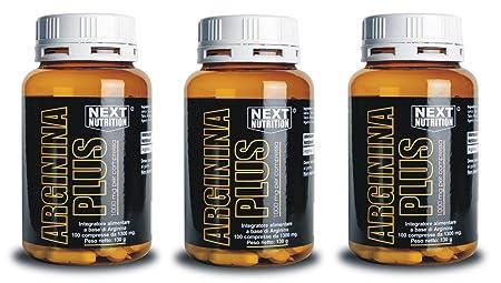 3 pack Arginin (100 Tabletten - 130 gr fur insgesamt 300 Tabletten - 390 gr 1 g Arginin pro Tablette) L-Arginin Aminosäure Anti Aging Potenz Muskelaufbau Masseaufbau Die essentielle Aminosäure L-Arginin ist die Vorstufe des NO (Stickstoffmonoxid