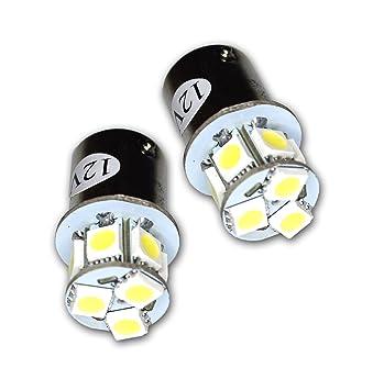 TuningPros LEDBL-3157-W19 Backup Reverse LED Light Bulbs 3157 19 LED White 2-pc Set