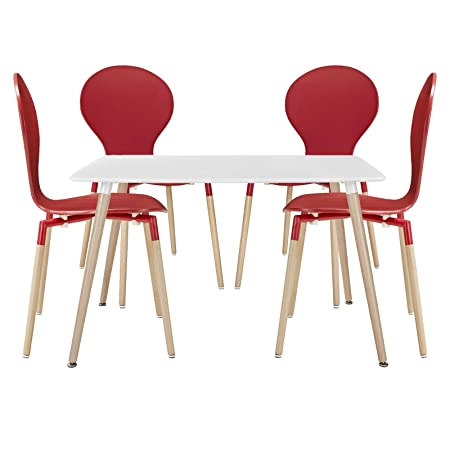 Path Dining Chairs and Table Set of 5