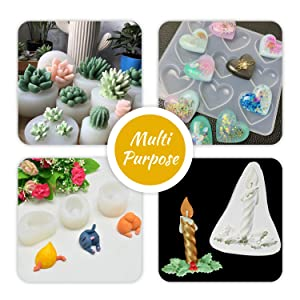Silicone Molds Making Kit - Liquid Translucent Silicone Rubber for Silicone Molds Making - Easy 1:1 Mixing Ratio Silicone for DIY Resin Molds, Casting, Jewelry Making, Manual Making, Crafts - 21.16 oz (Tamaño: 600g / 500ml)