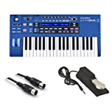 Novation UltraNova Analog Modelling Synthesizer with MID-310BK 10Ft. MIDI Cable and KSP100 Sustain Pedal