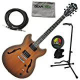 Ibanez AS53TF AS Artcore Semi Hollow Electric Guitar Tobacco Flat w/Geartree Cl (Color: Tobacco Flat)