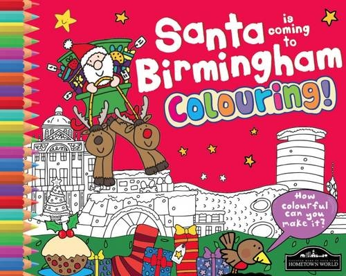 Santa is Coming to Birmingham Colouring