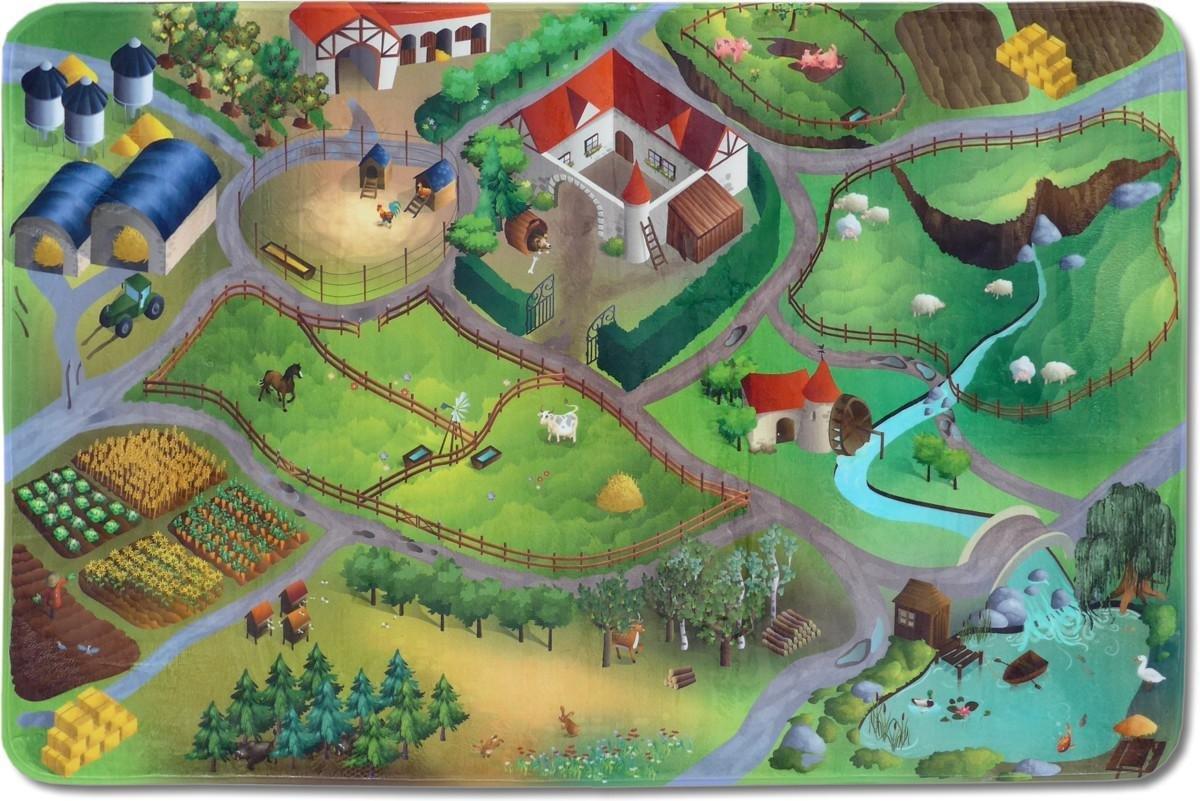 Kinderteppich MonTapis Spielwelt Bauernhof 130x190cm (Straßenteppich) jetzt kaufen