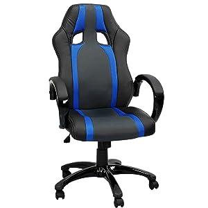 Terena® Sportsitz Chefsessel Bürostuhl schwarz / blaugestreift 41299    Kundenberichte und weitere Informationen