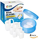 Anti-Snoring Solution Snore Stopper Devices - 4 Sizes Nose Vents for Healthy Sleep - Intra-Nasal Dilators for Breathing Aid - Multi-Symptom Relief for Cold, Allergy, Pregnancy, Air Travel Congestion (Color: Clear, Tamaño: Small, Medium, Large, X-Large)