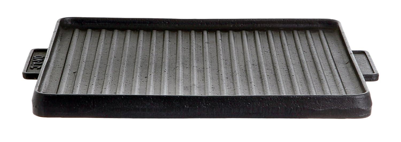 Gusseisenkuss Gusseisengrillplatte, eckig, Schwarz, 38 x 38 cm günstig kaufen