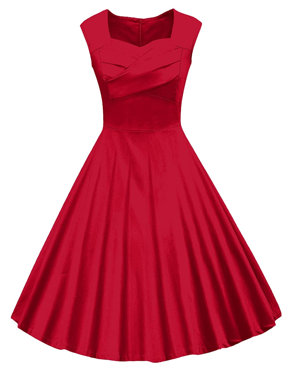 VOGVOG Women's 1950s Retro Vintage Cap Sleeve Party Swing Dress 0