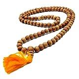 Healing Lama 108 Beads Genuine Sandlewood Tibetan Meditation Prayer Japa Mala, Buddhist Necklace. 8MM Beads Size