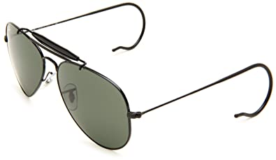 b9d77413db ... ray ban rb3030 outdoorsman aviator with cable temples sunglasses ...