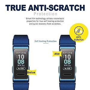 [6-Pack] SPGuard Compatible Huawei Band 3 Pro LiQuidSkin Screen Protector, HD Anti-Scratch Screen Protector for Huawei Band 3 Pro Sports Smartwatch[Active Protection] (Tamaño: 1)