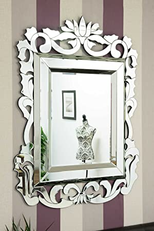 Large French Baroque Design Venetian Mirror