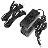 LE Power Adapter, UL Listed, 3A, 120V AC to 12V DC Transformer, 36W Power Supply, US Plug Power Converter for LED Strip Light and More, Pack of 2 (Tamaño: 2 Packs)