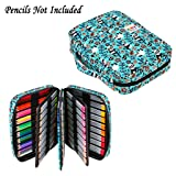 BTSKY Portable Colored Pencil Case - Colored Pencil Organizer Holds 166 Pencils or 112 Gel Pens Large Capacity Zippered Pencil Holder Gel pens (Panda) (Color: Panda)