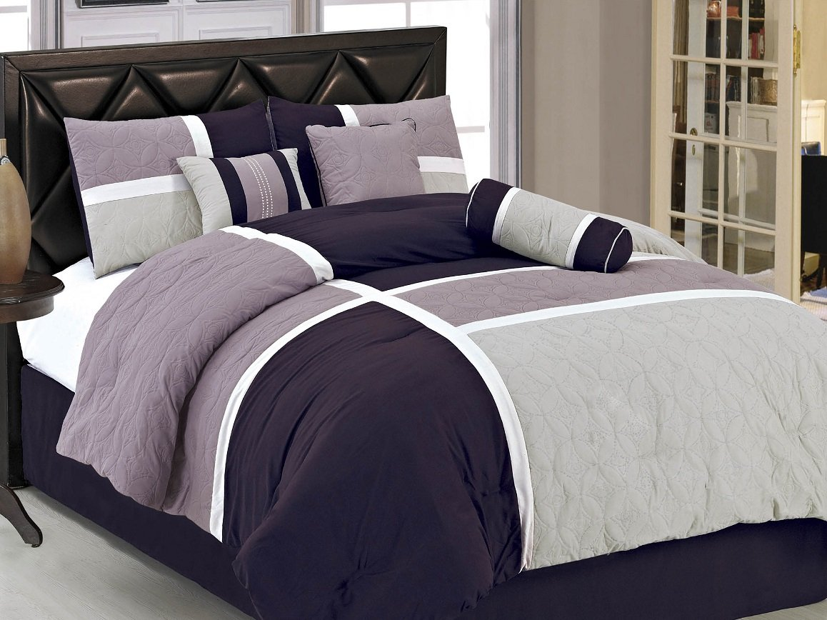 Amazon.com: Purple - Comforters & Sets / Bedding: Bedding & Bath