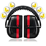 Ear Protection for Shooting Hearing Protector Muffs | Maximum Noise Cancelling Headphones for Mowing Kids Gun Range Soundproof | Bonus 6 Pair of Best