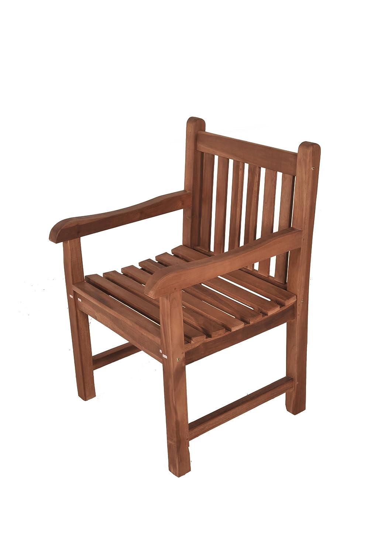 SAM® A Klasse Teak-Holz Armlehnsessel, Gartenstuhl Jawa, massiver Holzstuhl, angenehmer Sitzkomfort dank Armlehnen, ideal für Balkon oder Garten kaufen