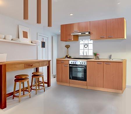 Bloque de cocina respekta de cocina 210 cm madera de haya madera de roble serías KB210BBEC