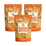 Organic Peanut Butter Chewy Banana Bites,Delicious Barnana Coated Potassium Rich Banana Snacks - Lunch Dinner Sports Hiking Natural Snack - Whole 30, Paleo, Vegan,3.5 Ounce, Pack of 3